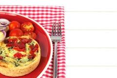 Ζωηρόχρωμο υγιές μεσημεριανό γεύμα Πίτα με το διάστημα αντιγράφων Στοκ φωτογραφία με δικαίωμα ελεύθερης χρήσης