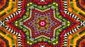 Ζωηρόχρωμο υπνωτικό συμμετρικό καλειδοσκόπιο στοκ εικόνες