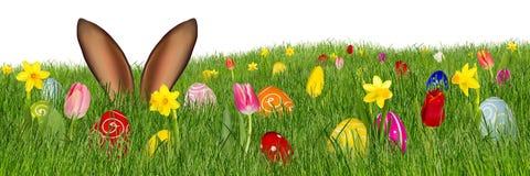 Ζωηρόχρωμο υπόβαθρο λαγουδάκι Πάσχας απεικόνιση αποθεμάτων
