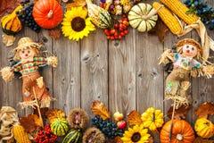 Ζωηρόχρωμο υπόβαθρο για αποκριές και την ημέρα των ευχαριστιών Στοκ Εικόνα