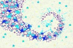 Ζωηρόχρωμο υπόβαθρο εικόνων των αστεριών Στοκ εικόνες με δικαίωμα ελεύθερης χρήσης