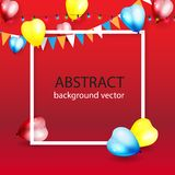 Ζωηρόχρωμο υπόβαθρο εορτασμού με τα μπαλόνια Διανυσματικό illustrati στοκ φωτογραφία με δικαίωμα ελεύθερης χρήσης