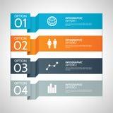 Ζωηρόχρωμο υπόβαθρο επιλογής Infographic εγγράφου Στοκ Εικόνες