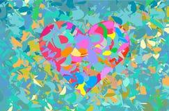 Ζωηρόχρωμο υπόβαθρο καρδιών - διάνυσμα διανυσματική απεικόνιση
