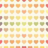 Ζωηρόχρωμο υπόβαθρο καρδιών ουράνιων τόξων αναδρομικό Στοκ Εικόνες