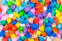 Ζωηρόχρωμο υπόβαθρο καρδιών origami Στοκ εικόνα με δικαίωμα ελεύθερης χρήσης