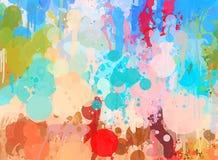 Ζωηρόχρωμο υπόβαθρο κτυπημάτων βουρτσών Αμερικανός διακοσμεί διανυσματική έκδοση συμβόλων σχεδίου την πατριωτική καθορισμένη Στοκ Εικόνες
