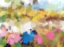 Ζωηρόχρωμο υπόβαθρο κτυπημάτων βουρτσών χρωμάτων Στοκ εικόνες με δικαίωμα ελεύθερης χρήσης