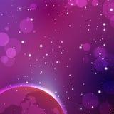 Ζωηρόχρωμο υπόβαθρο μακρινού διαστήματος Διανυσματική απόκρυφη απεικόνιση αστρολογίας Στοκ Φωτογραφίες