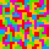 Ζωηρόχρωμο υπόβαθρο παιχνιδιών Tetris Στοκ φωτογραφία με δικαίωμα ελεύθερης χρήσης