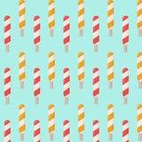 Ζωηρόχρωμο υπόβαθρο σχεδίων ραβδιών παγωτού ελεύθερη απεικόνιση δικαιώματος