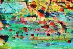 Ζωηρόχρωμο υπόβαθρο χρωμάτων με τα χρώματα watercolor κεριών Στοκ εικόνες με δικαίωμα ελεύθερης χρήσης
