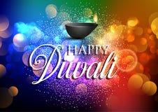 Ζωηρόχρωμο υπόβαθρο Diwali ελεύθερη απεικόνιση δικαιώματος