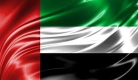 Ζωηρόχρωμο υπόβαθρο Grunge, σημαία των Ηνωμένων Αραβικών Εμιράτων Στοκ Εικόνες
