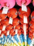 Ζωηρόχρωμο φανάρι εγγράφου για το φεστιβάλ φαναριών Lotus στη Νότια Κορέα Στοκ Εικόνες