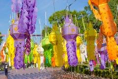 Ζωηρόχρωμο φανάρι εγγράφου στην επαρχία γιαγιάδων, Ταϊλάνδη Στοκ εικόνα με δικαίωμα ελεύθερης χρήσης