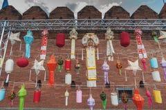 Ζωηρόχρωμο φανάρι, Yi Peng ή φεστιβάλ Loy Krathong Στοκ Φωτογραφίες