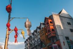 Ζωηρόχρωμο φανάρι, Yi Peng ή φεστιβάλ Loy Krathong Στοκ εικόνες με δικαίωμα ελεύθερης χρήσης