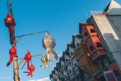 Ζωηρόχρωμο φανάρι, Yi Peng ή φεστιβάλ Loy Krathong Στοκ Φωτογραφία