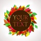 Ζωηρόχρωμο φθινοπωρινό υπόβαθρο για το κείμενό σας Διανυσματική απεικόνιση