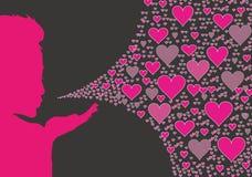 ζωηρόχρωμο φιλί χτυπήματο&sigm Στοκ Εικόνες