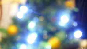 Ζωηρόχρωμο φως Χριστουγέννων απόθεμα βίντεο