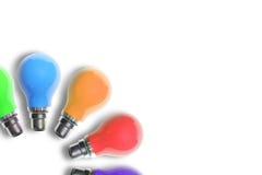 ζωηρόχρωμο φως 2 βολβών Στοκ εικόνα με δικαίωμα ελεύθερης χρήσης