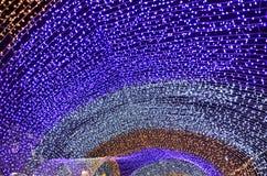 ζωηρόχρωμο φως bokeh και Χριστούγεννα στοκ φωτογραφία με δικαίωμα ελεύθερης χρήσης