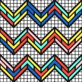 Ζωηρόχρωμο φωτεινό άνευ ραφής σχέδιο Στοκ Εικόνα