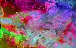 Ζωηρόχρωμο φωτεινό υπόβαθρο watercolor χρωμάτων αφηρημένο χρωματισμένο χέρι Στοκ εικόνες με δικαίωμα ελεύθερης χρήσης