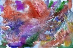 Ζωηρόχρωμο φωτεινό υπόβαθρο watercolor χρωμάτων αφηρημένο χρωματισμένο χέρι Στοκ Εικόνες