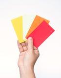 ζωηρόχρωμο χέρι καρτών Στοκ εικόνες με δικαίωμα ελεύθερης χρήσης