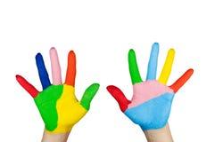 ζωηρόχρωμο χέρι Στοκ εικόνες με δικαίωμα ελεύθερης χρήσης