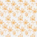 Ζωηρόχρωμο χαριτωμένο floral σύνολο με τα λουλούδια doodle Άνευ ραφής σχέδιο σχεδίου άνοιξης ή καλοκαιριού Στοκ Φωτογραφίες