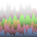 Ζωηρόχρωμο χρωματισμένο διάγραμμα Στοκ εικόνες με δικαίωμα ελεύθερης χρήσης