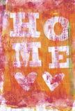 Ζωηρόχρωμο χρωματισμένο σπίτι του Word υποβάθρου στοκ φωτογραφία με δικαίωμα ελεύθερης χρήσης