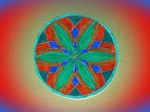 Ζωηρόχρωμο χρωματισμένο mandala Στοκ Εικόνες