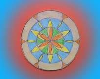 Ζωηρόχρωμο χρωματισμένο mandala Στοκ Φωτογραφία