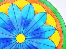 Ζωηρόχρωμο χρωματισμένο mandala Στοκ φωτογραφίες με δικαίωμα ελεύθερης χρήσης