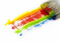 ζωηρόχρωμο χρώμα βουρτσών Στοκ Φωτογραφίες