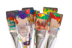 ζωηρόχρωμο χρώμα βουρτσών Στοκ φωτογραφία με δικαίωμα ελεύθερης χρήσης