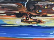 ζωηρόχρωμο χρώμα Στοκ εικόνα με δικαίωμα ελεύθερης χρήσης