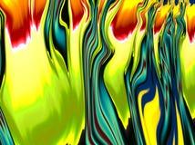 Ζωηρόχρωμο ψηφιακό fractal επίδρασης φλογών Στοκ Εικόνες