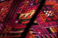 ζωηρόχρωμο ύφασμα μεξικανό& Στοκ Εικόνα
