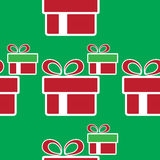 ζωηρόχρωμο δώρο Χριστου&gamma πρότυπο διακοπών άνευ ραφής Στοκ Εικόνες