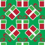 ζωηρόχρωμο δώρο Χριστου&gamma πρότυπο διακοπών άνευ ραφής Στοκ φωτογραφία με δικαίωμα ελεύθερης χρήσης