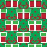 ζωηρόχρωμο δώρο Χριστου&gamma πρότυπο διακοπών άνευ ραφής Στοκ εικόνες με δικαίωμα ελεύθερης χρήσης