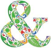 Ζωηρόχρωμο ampersand διανυσματική απεικόνιση