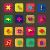 Ζωηρόχρωμο app εικονίδιο Στοκ Φωτογραφίες