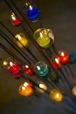 Ζωηρόχρωμο aromatherapy κερί Στοκ φωτογραφίες με δικαίωμα ελεύθερης χρήσης